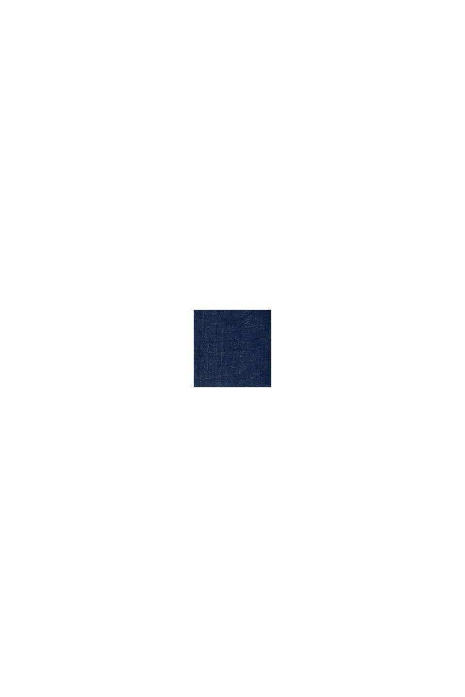Met TENCEL™: shaping jeans met dubbele knoop, BLUE DARK WASHED, swatch