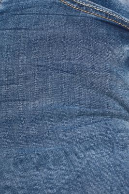 With TENCEL™: Shaping jeans in a double button design, BLUE MEDIUM WASH, detail
