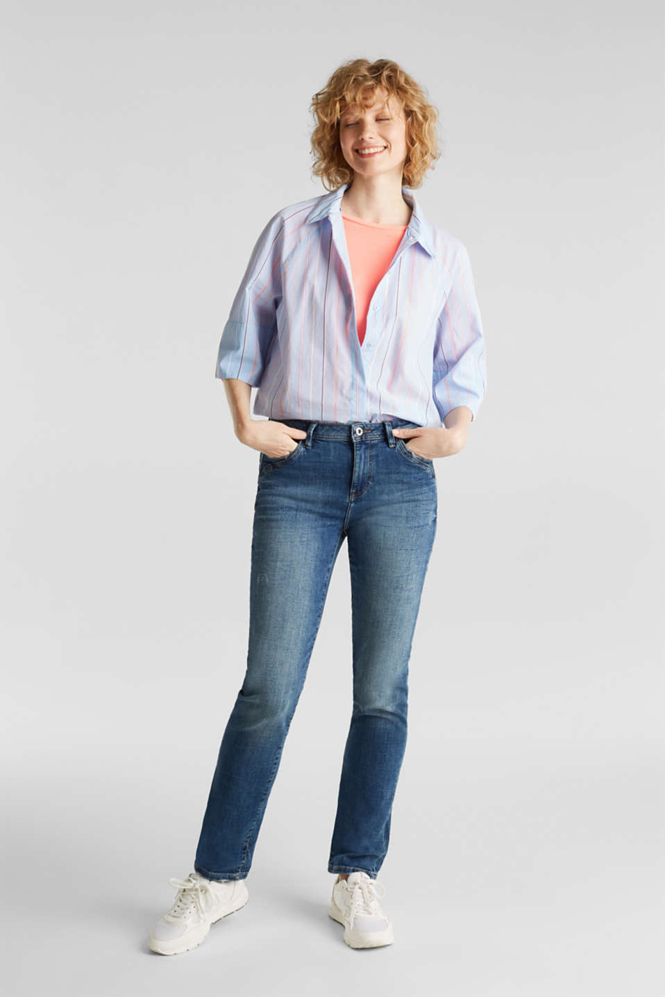 Stretch jeans with fashionable details