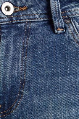 Stretch jeans with fashionable details, BLUE DARK WASH, detail
