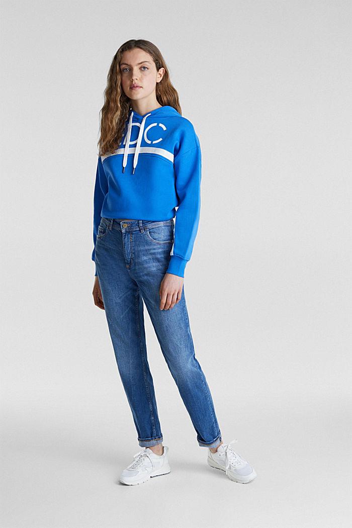 Stretch-Jeans mit Used-Effekten
