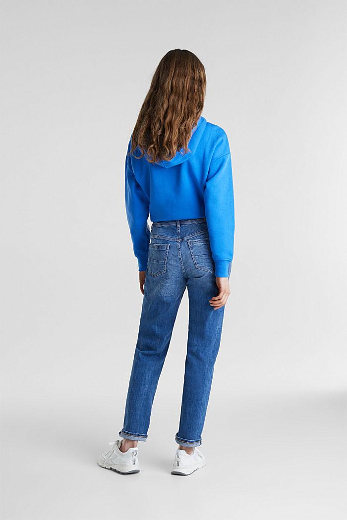 Stretch-Jeans mit Used-Effekten, BLUE MEDIUM WASHED, detail image number 2