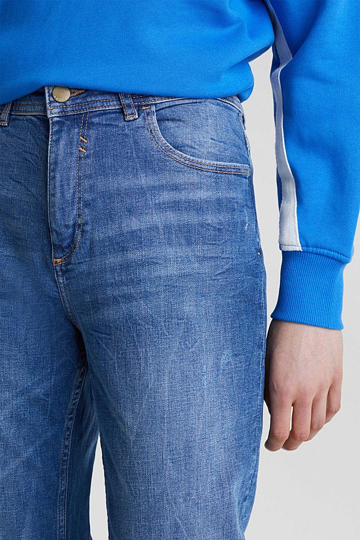 Stretch-Jeans mit Used-Effekten, BLUE MEDIUM WASHED, detail image number 1