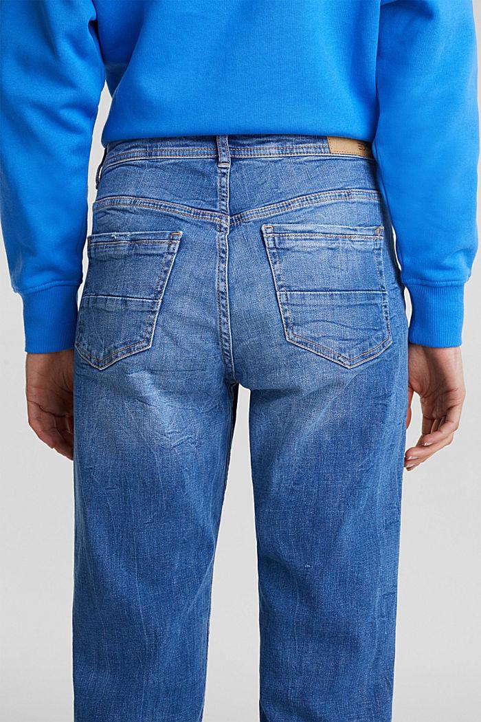 Stretch-Jeans mit Used-Effekten, BLUE MEDIUM WASHED, detail image number 4