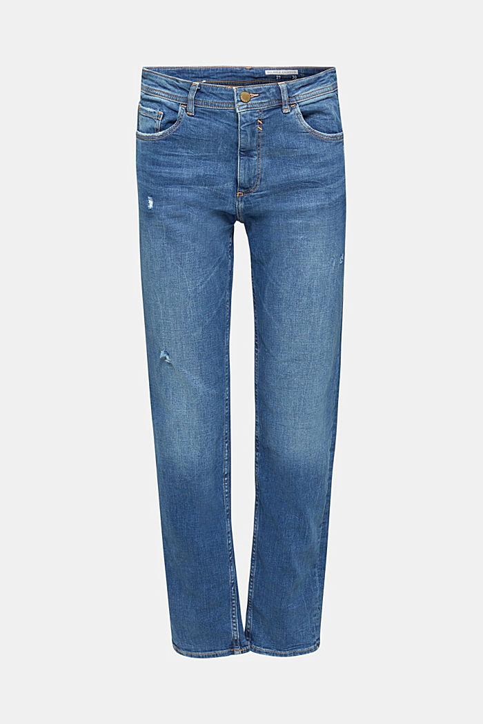 Stretch-Jeans mit Used-Effekten, BLUE MEDIUM WASHED, detail image number 5