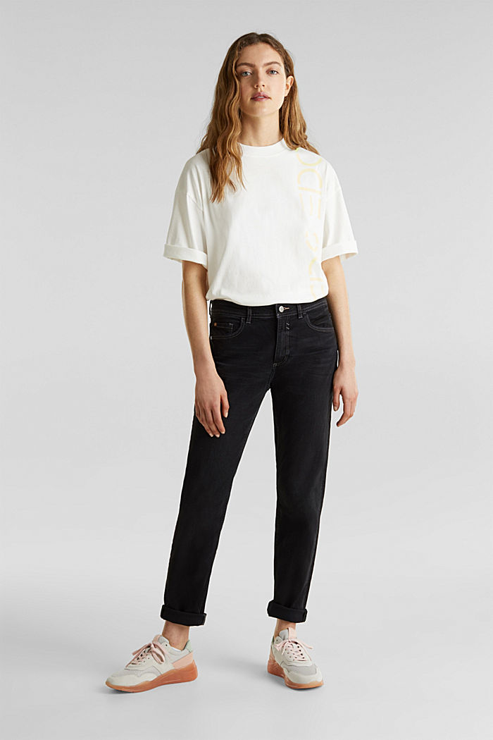 Stretch jeans with a new, relaxed fit, BLACK DARK WASHED, detail image number 0