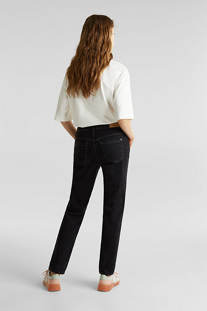 Stretch jeans with a new, relaxed fit, BLACK DARK WASHED, detail image number 3