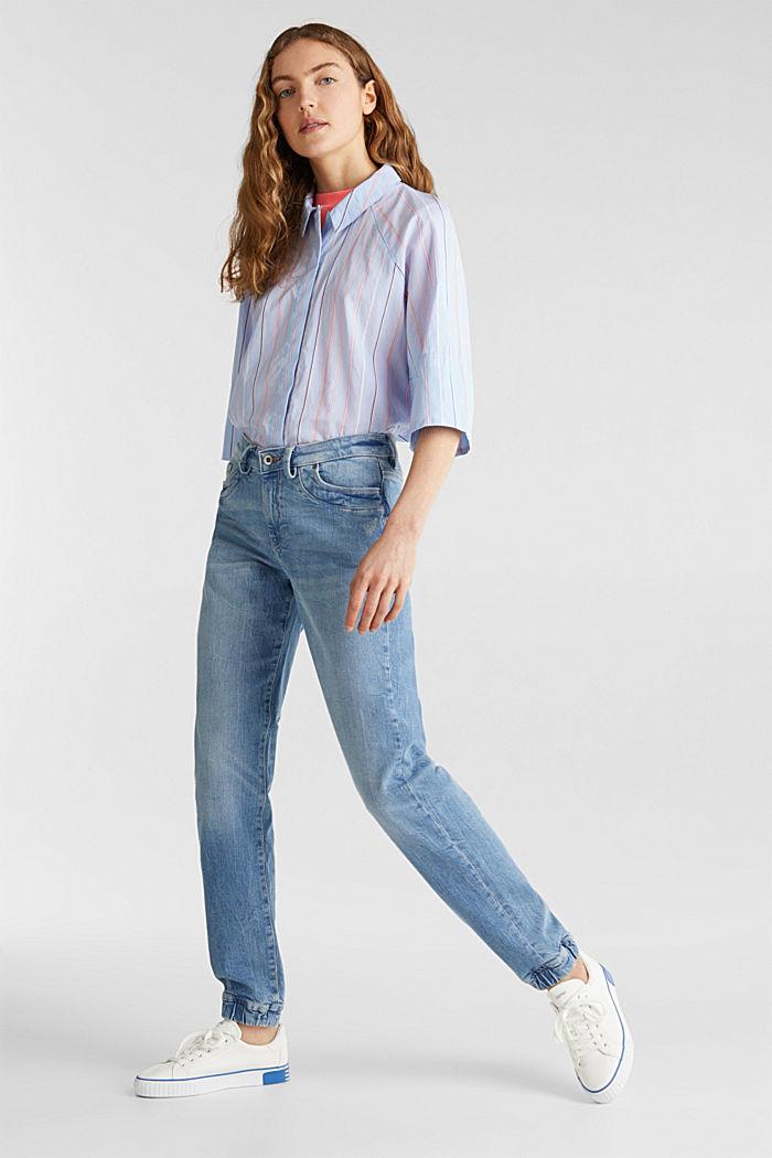 Jeans im Jogger-Stil, BLUE LIGHT WASHED, detail image number 0