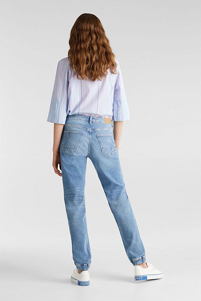 Jeans im Jogger-Stil, BLUE LIGHT WASHED, detail image number 3