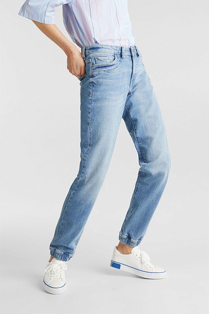 Jeans im Jogger-Stil, BLUE LIGHT WASHED, detail image number 6