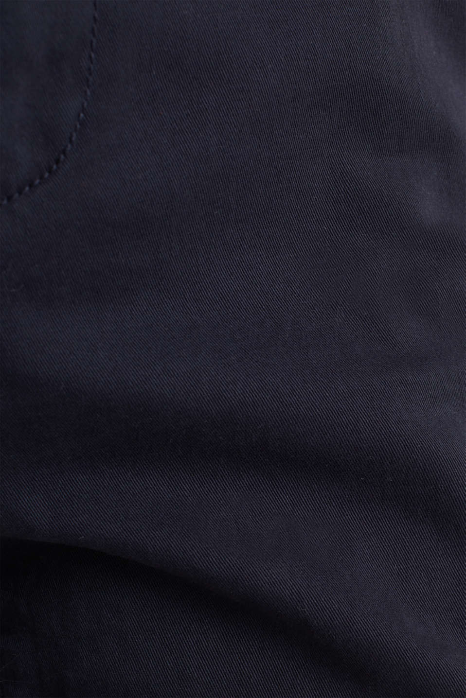 Stretch chinos made of twill with a woven belt, NAVY, detail image number 3