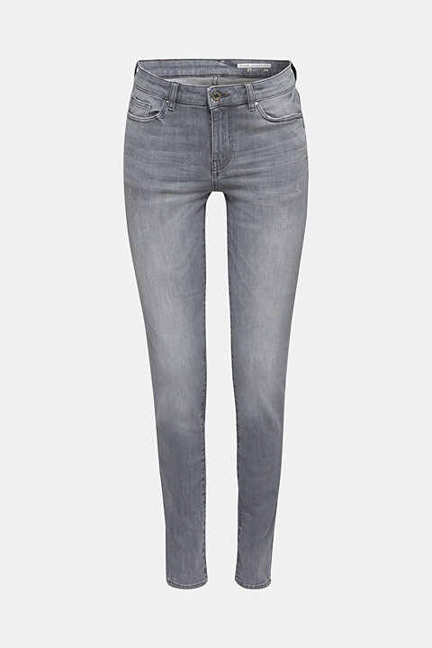 Grey jeans with a vintage finish