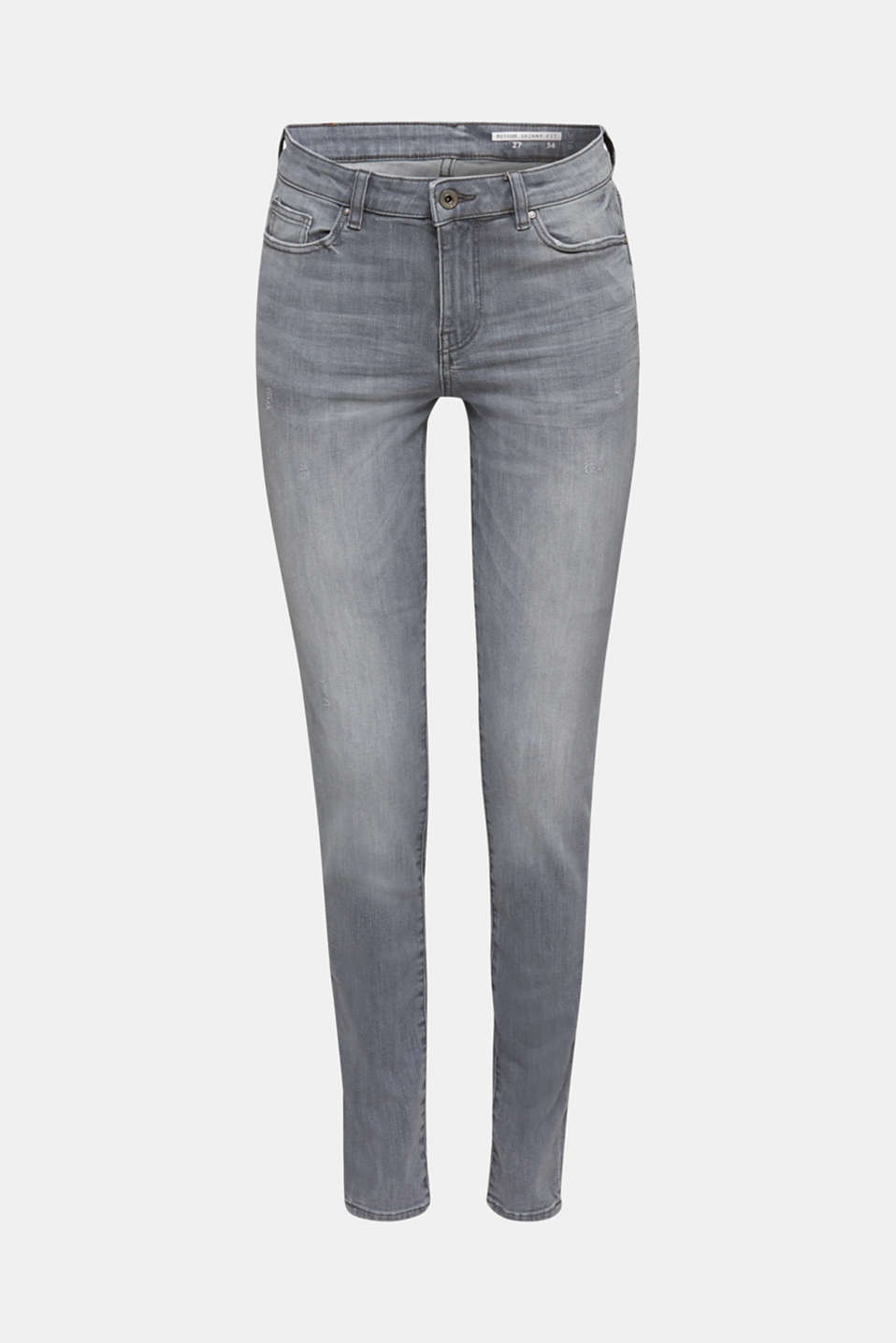 Grey jeans with a vintage finish, GREY LIGHT WASH, detail image number 6