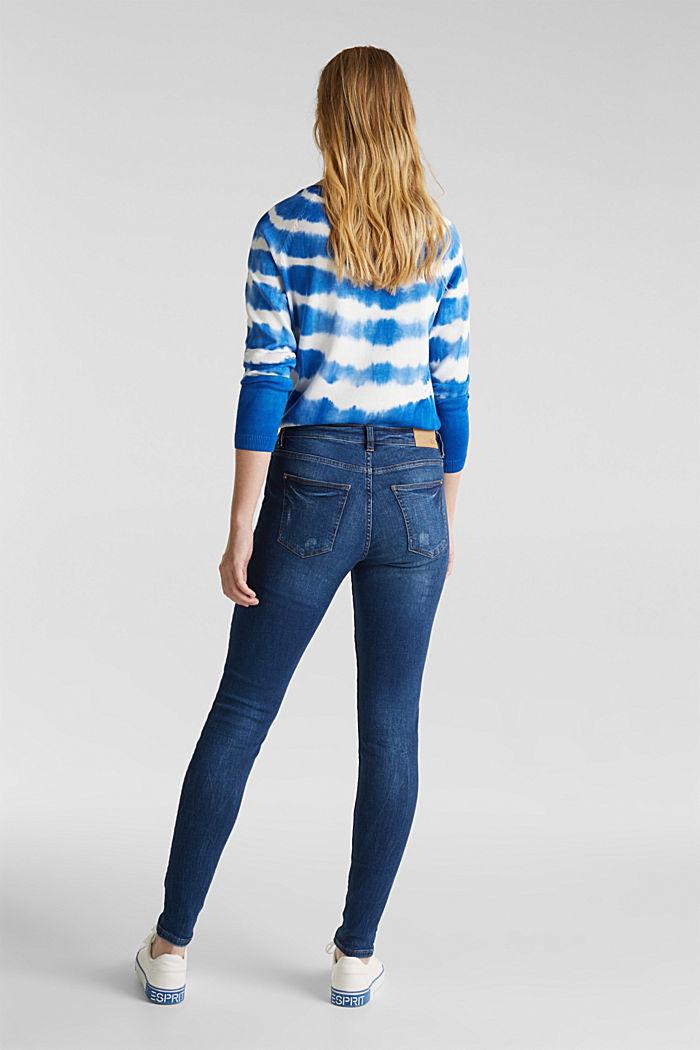 Jeans met destroyed look, BLUE MEDIUM WASHED, detail image number 3
