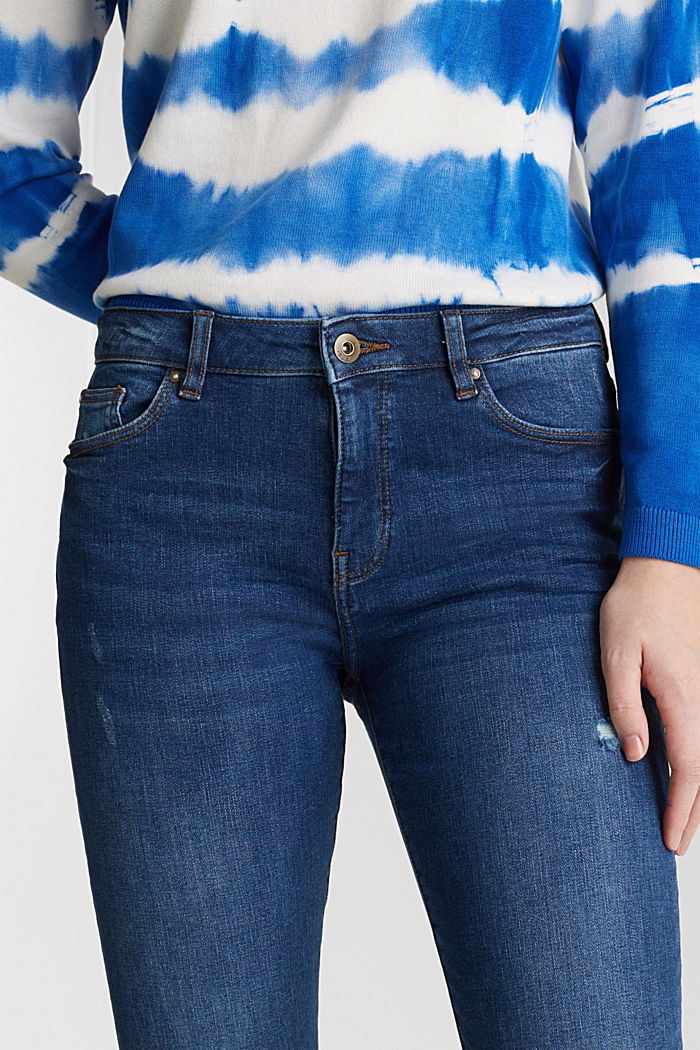 Jeans met destroyed look, BLUE MEDIUM WASHED, detail image number 2