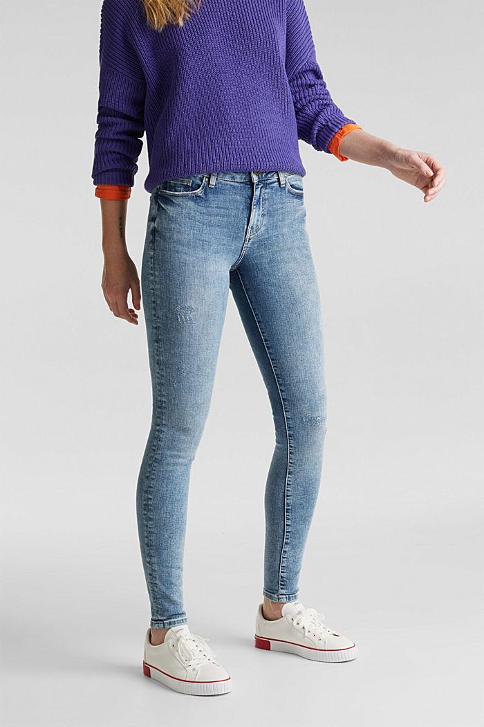 Jeans im Destroyed-Look, BLUE LIGHT WASHED, detail image number 0