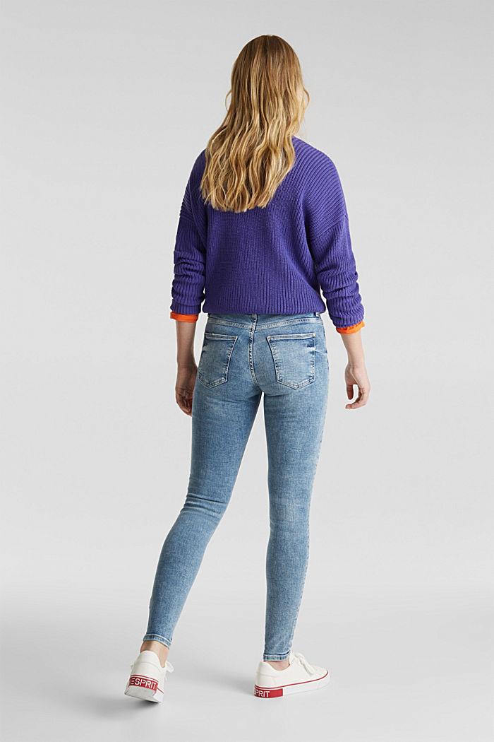 Jeans im Destroyed-Look, BLUE LIGHT WASHED, detail image number 3