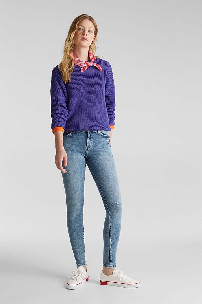 Jeans im Destroyed-Look, BLUE LIGHT WASHED, detail image number 1