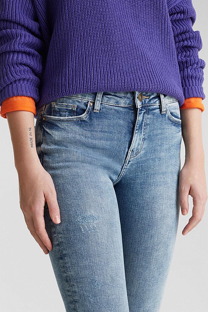 Jeans im Destroyed-Look, BLUE LIGHT WASHED, detail image number 2