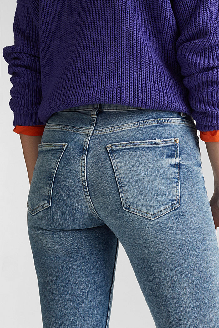 Jeans im Destroyed-Look, BLUE LIGHT WASHED, detail image number 5