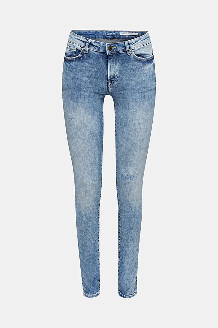Jeans im Destroyed-Look, BLUE LIGHT WASHED, detail image number 6
