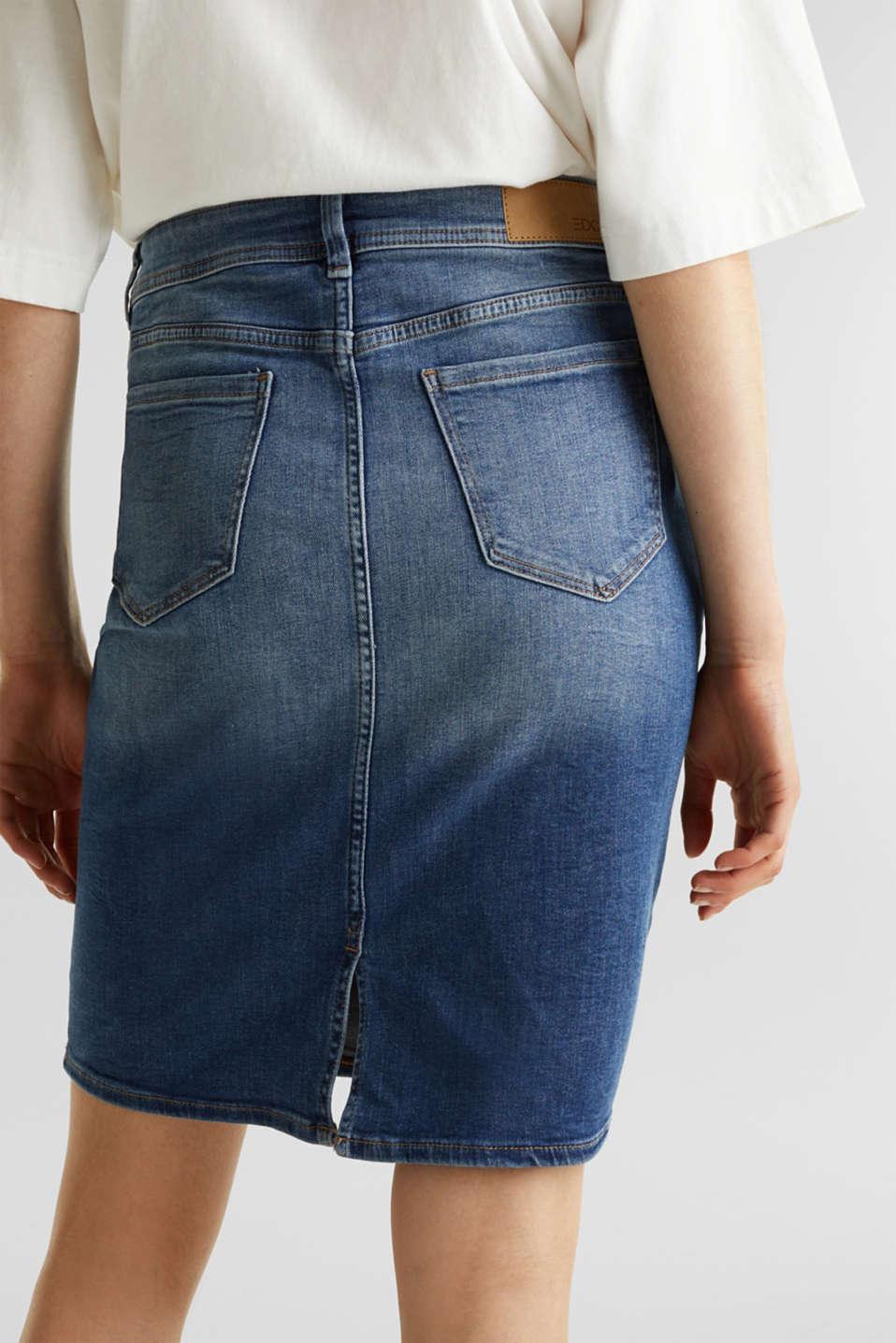 Skirts denim, BLUE DARK WASH, detail image number 4