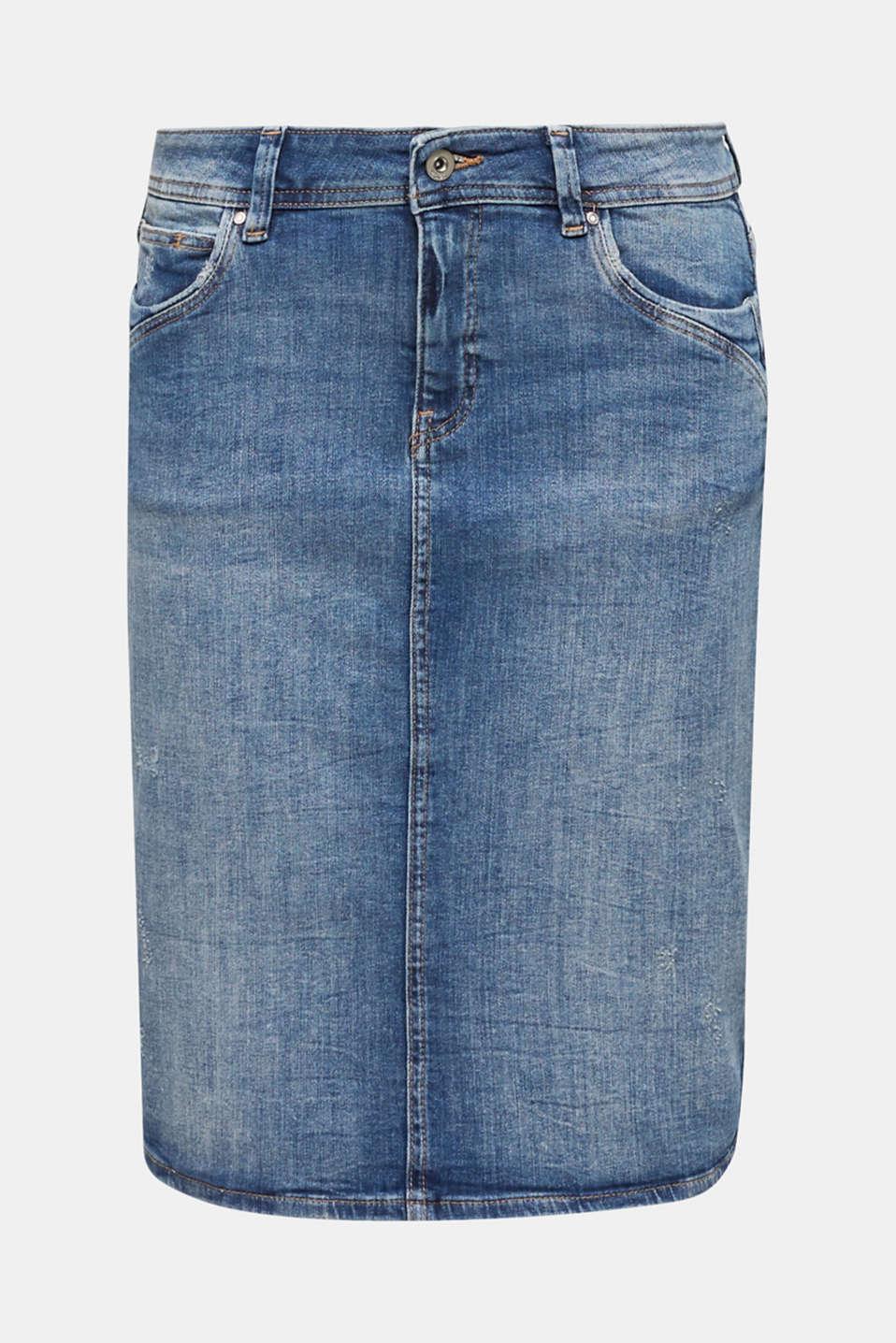 Skirts denim, BLUE DARK WASH, detail image number 5
