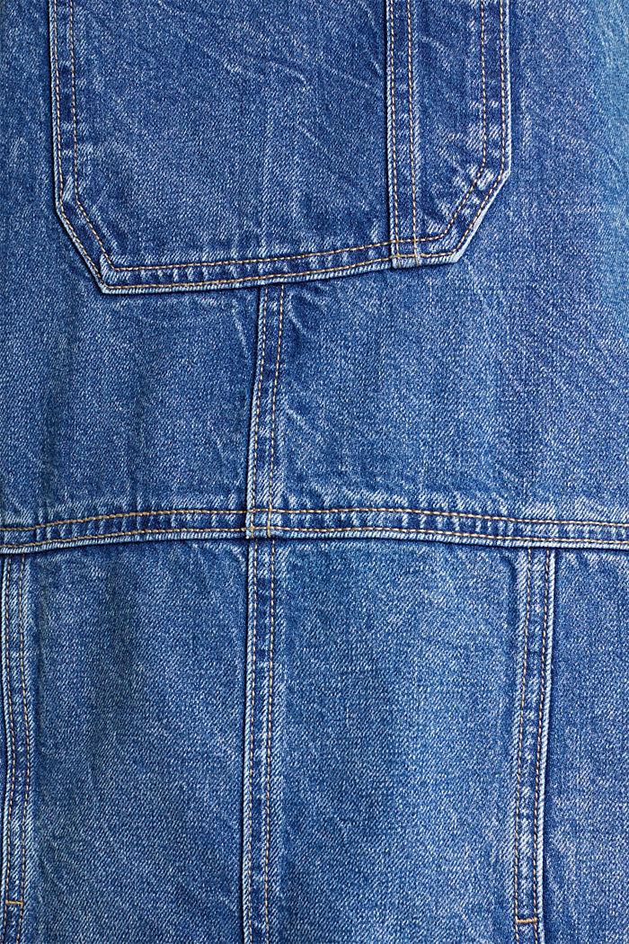 Träger-Kleid aus Denim, 100% Baumwolle, BLUE MEDIUM WASHED, detail image number 3