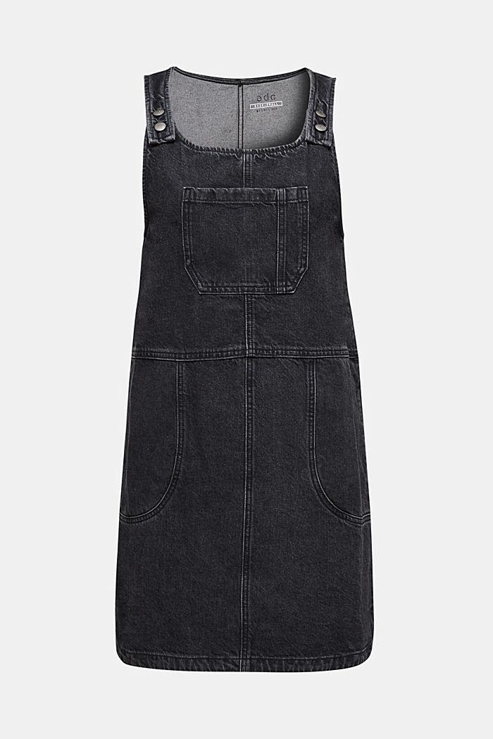 Latzrock aus Black Denim, 100% Baumwolle, BLACK MEDIUM WASHED, detail image number 5