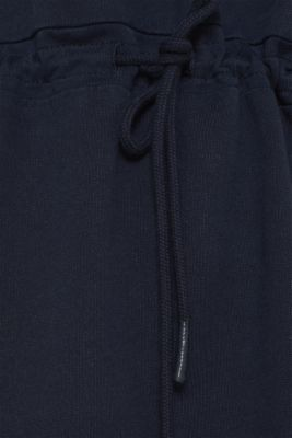 Sweatshirt dress with a drawstring, 100% cotton, NAVY, detail