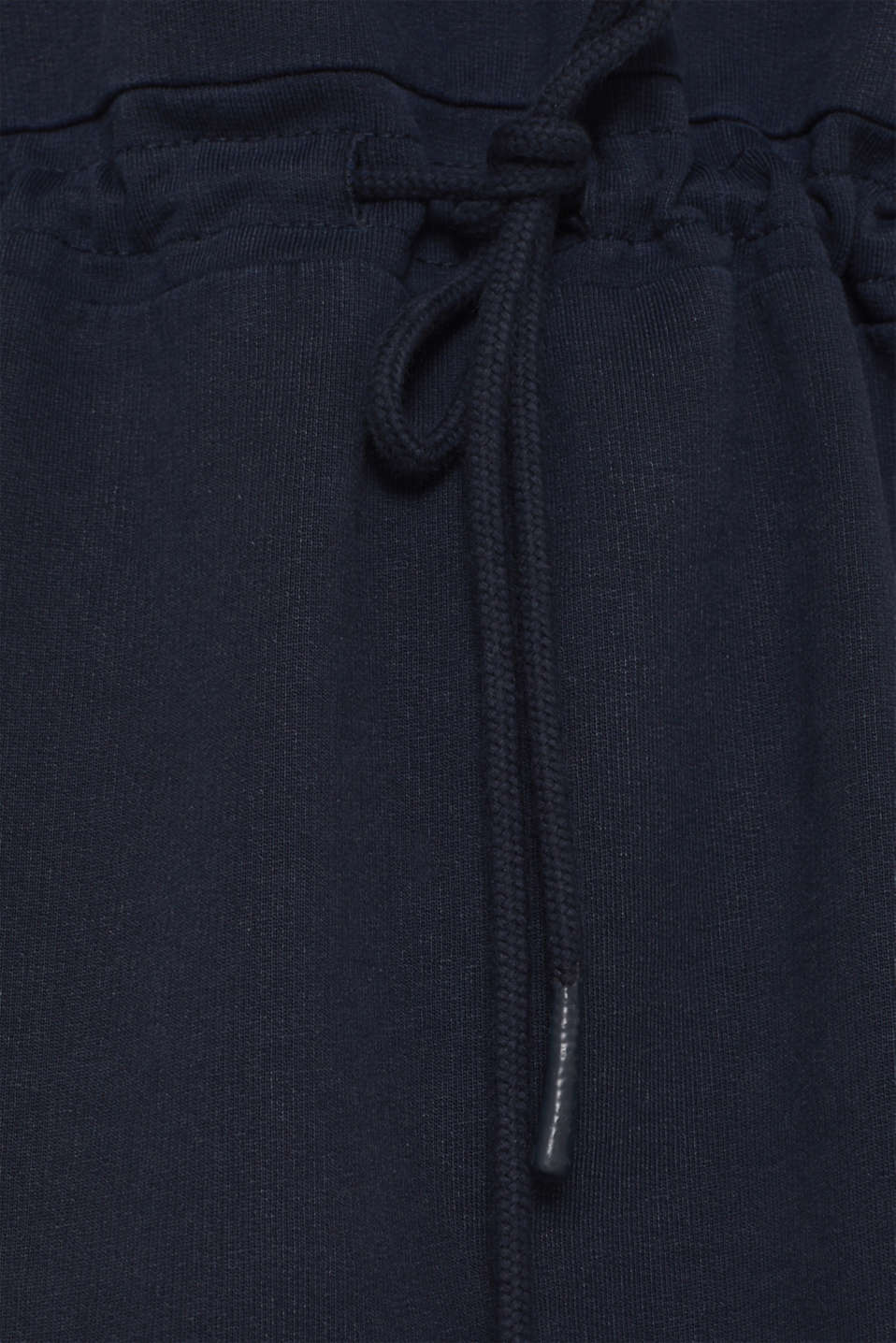 Sweatshirt dress with a drawstring, 100% cotton, NAVY, detail image number 5