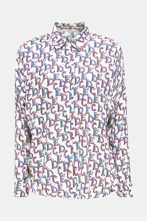 Crêpe blouse with an all-over print