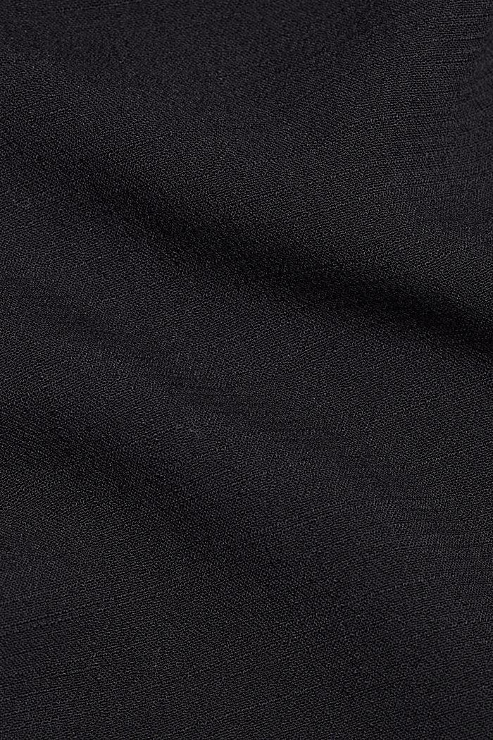 Fließende Hemdbluse mit Struktur, BLACK, detail image number 4