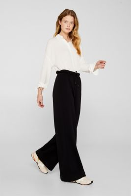 Flowing shirt blouse with a texture, OFF WHITE, detail