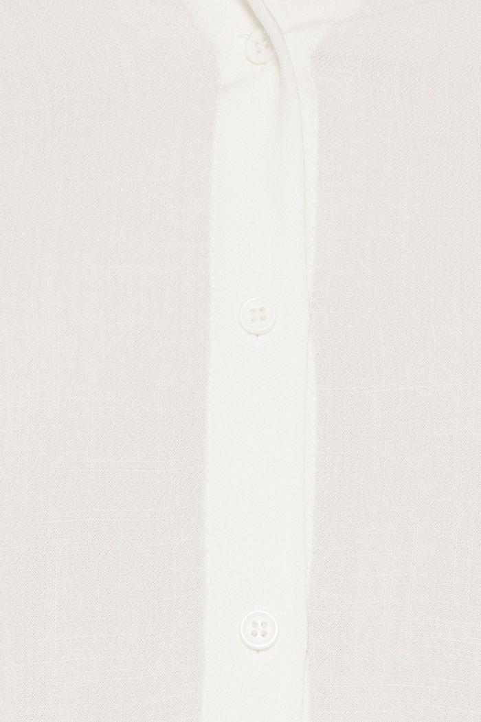 Fließende Hemdbluse mit Struktur, OFF WHITE, detail image number 4