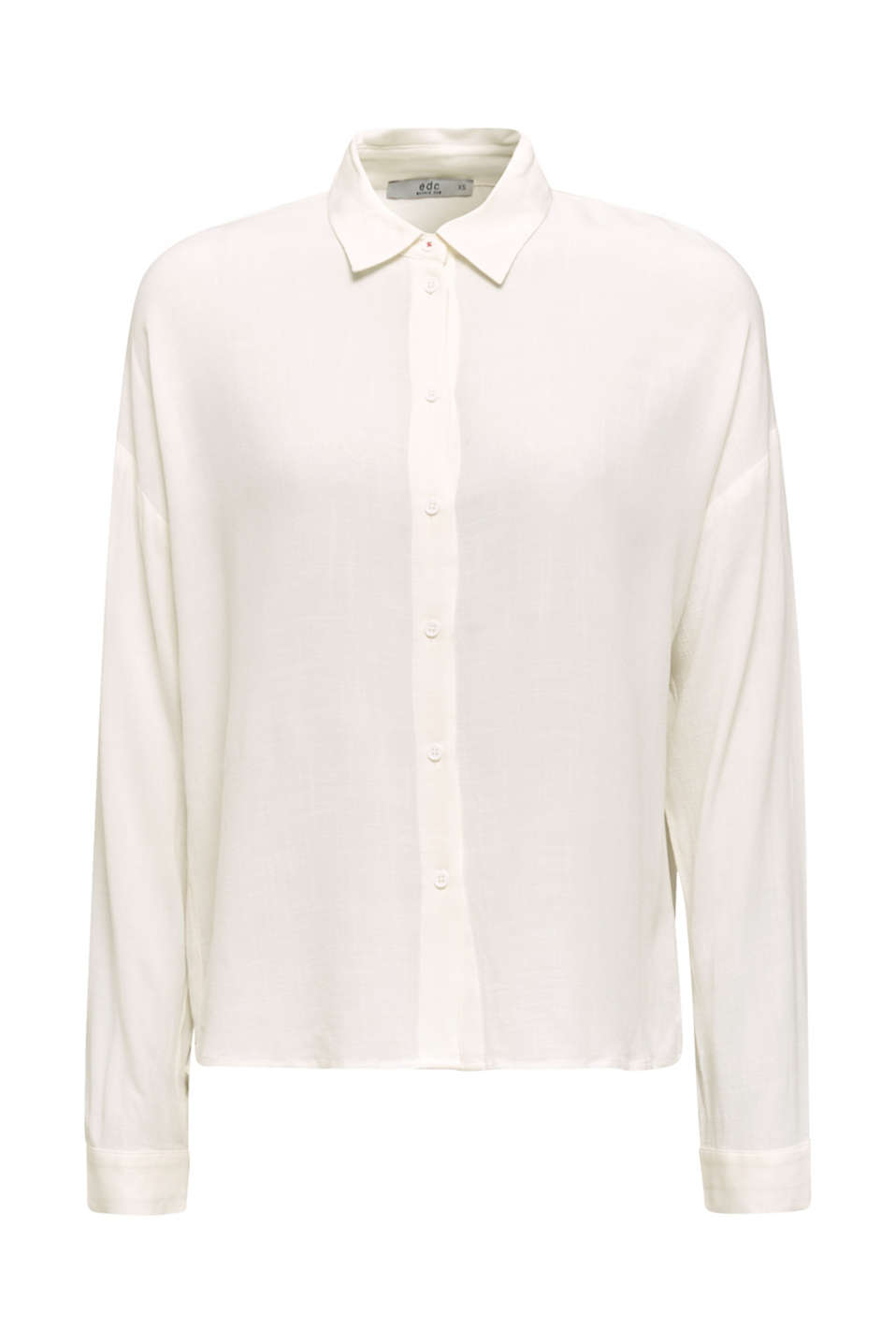 Flowing shirt blouse with a texture, OFF WHITE, detail image number 7