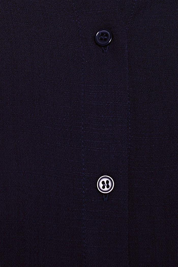 Flowing shirt blouse with a texture, NAVY, detail image number 4