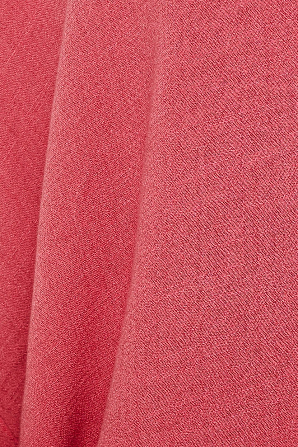 Flowing shirt blouse with a texture, BLUSH, detail image number 4