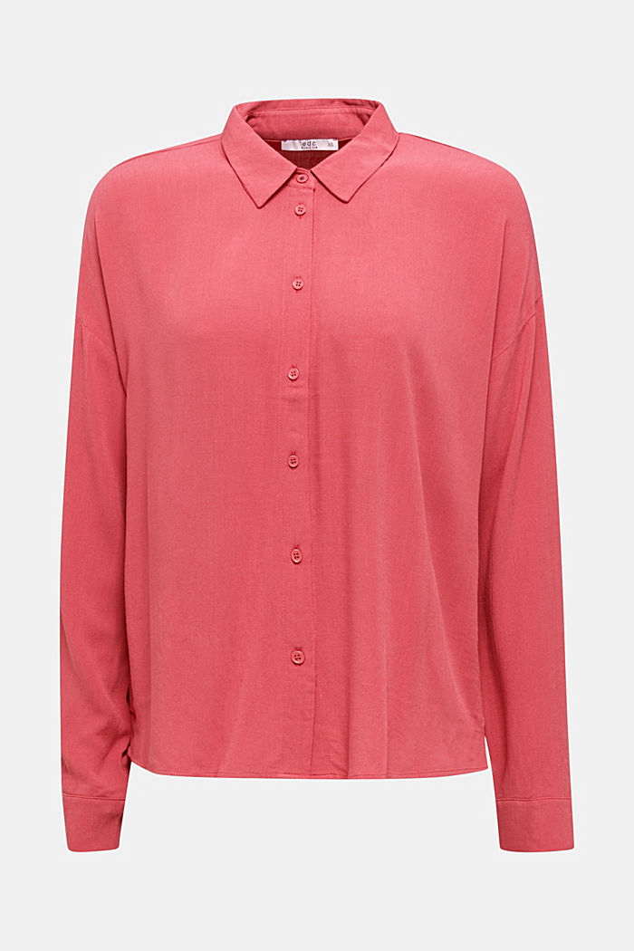 Flowing shirt blouse with a texture, BLUSH, detail image number 6