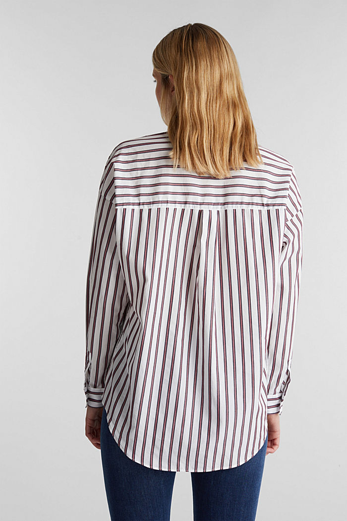 Slip-on blouse with a stand-up collar, 100% cotton, OFF WHITE, detail image number 3