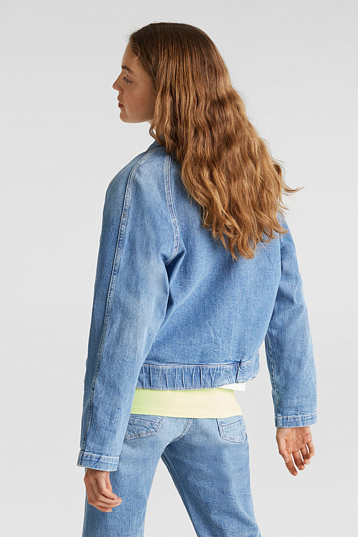 Jeans-Jacke mit neuen Details, BLUE LIGHT WASHED, detail image number 3