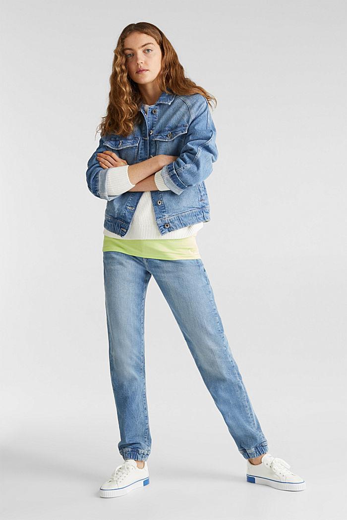 Jeans-Jacke mit neuen Details, BLUE LIGHT WASHED, detail image number 1
