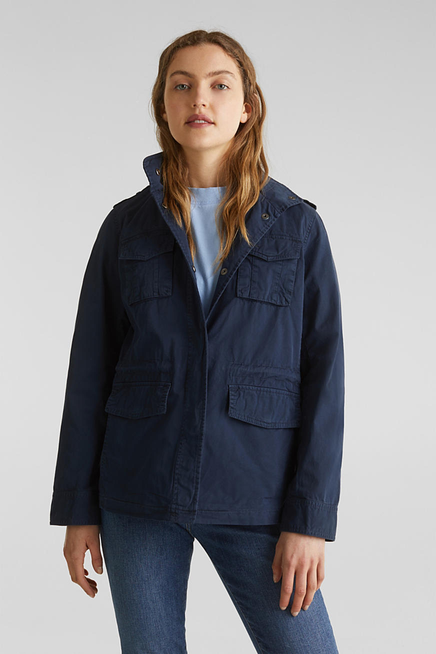 Utility jacket in 100% cotton