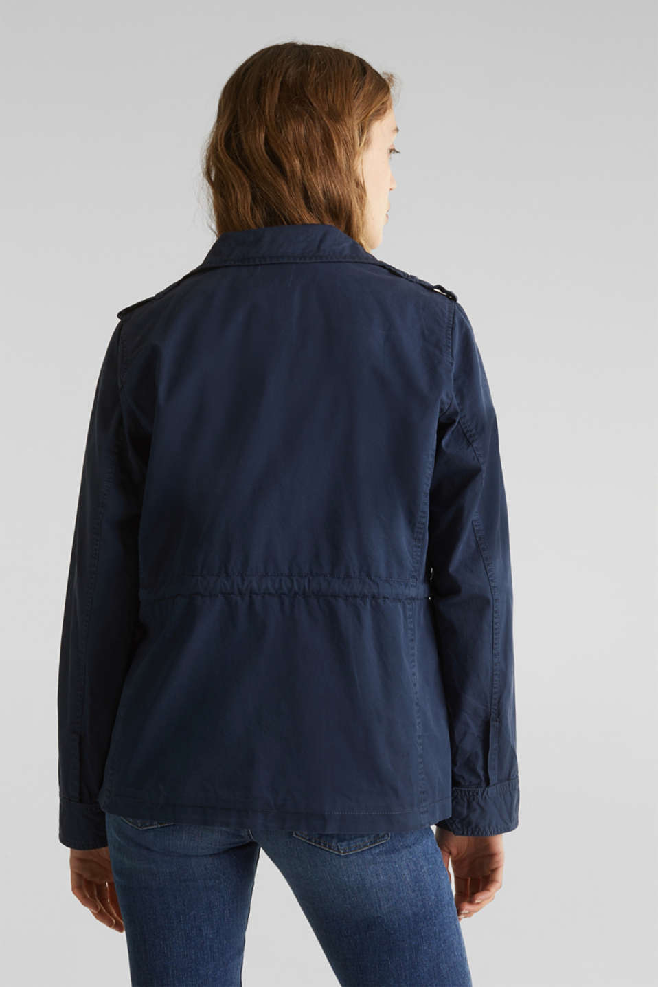 Utility jacket in 100% cotton, NAVY, detail image number 3