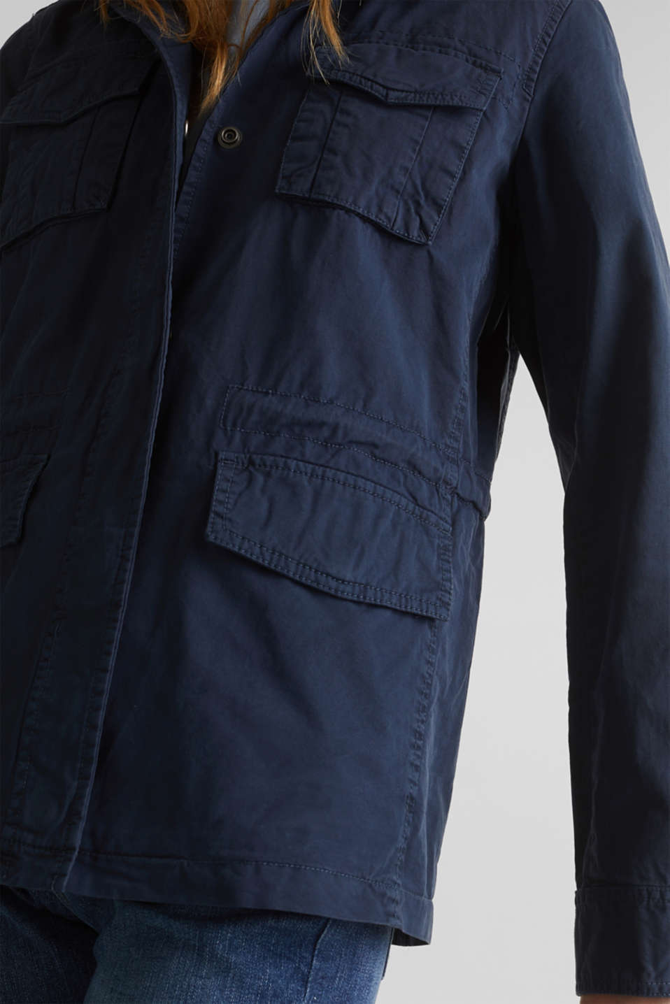Utility jacket in 100% cotton, NAVY, detail image number 2