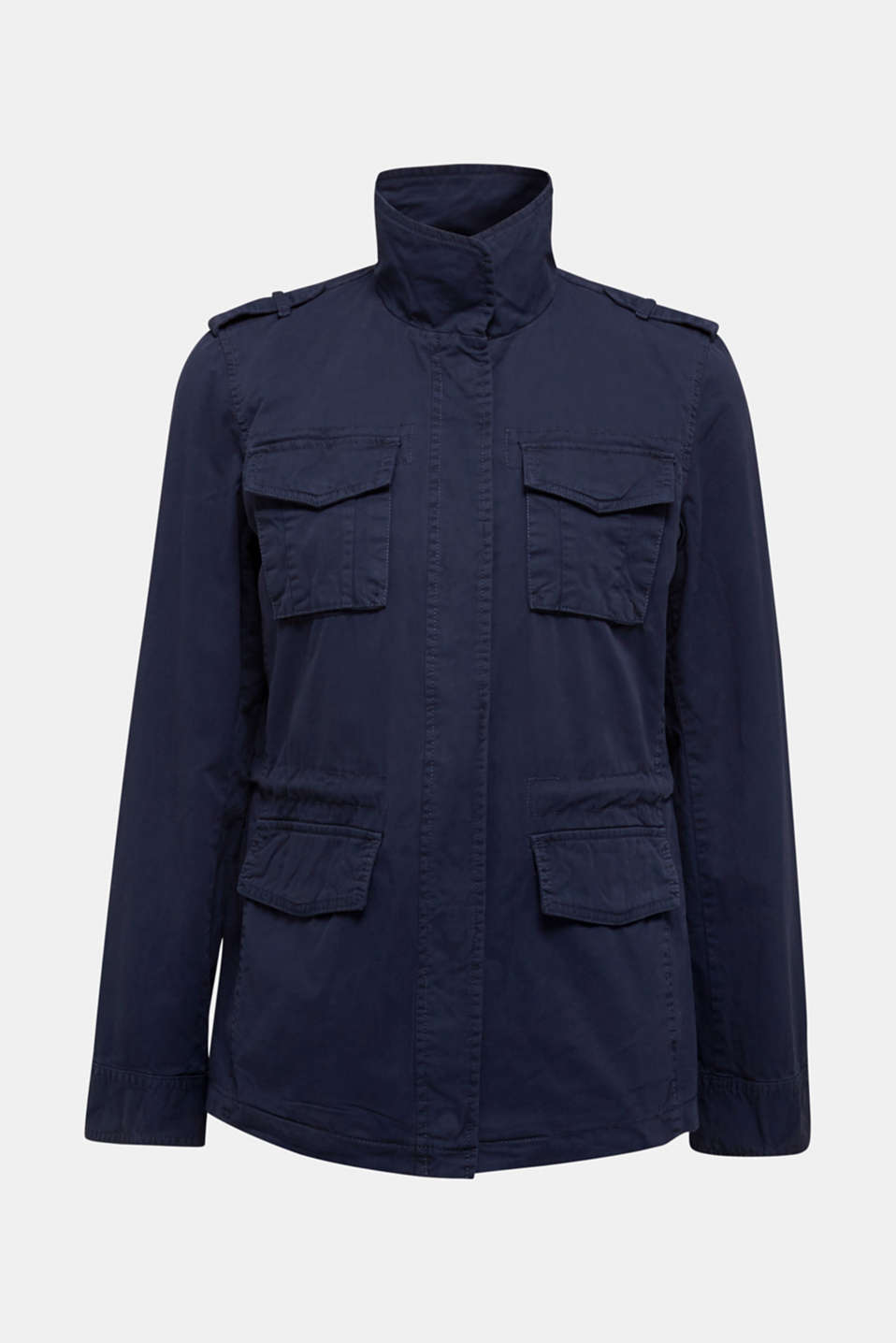 Utility jacket in 100% cotton, NAVY, detail image number 6