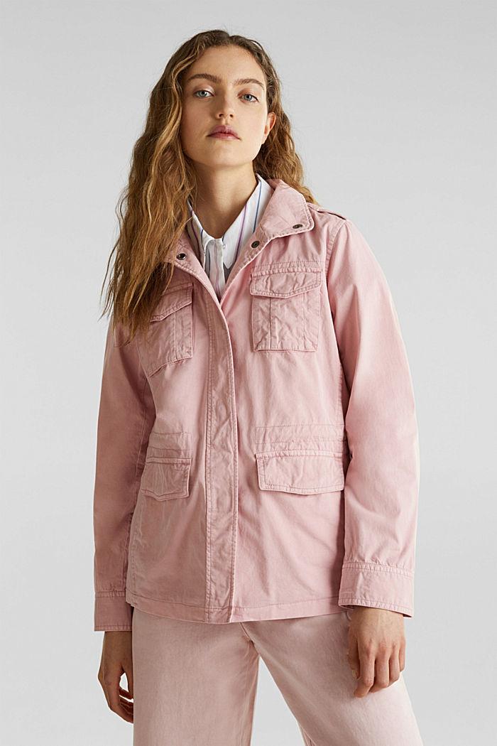 Utility-Jacke aus 100% Baumwolle, DARK OLD PINK, detail image number 0