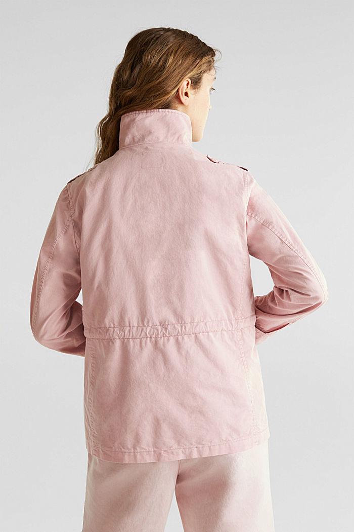 Utility-Jacke aus 100% Baumwolle, DARK OLD PINK, detail image number 3