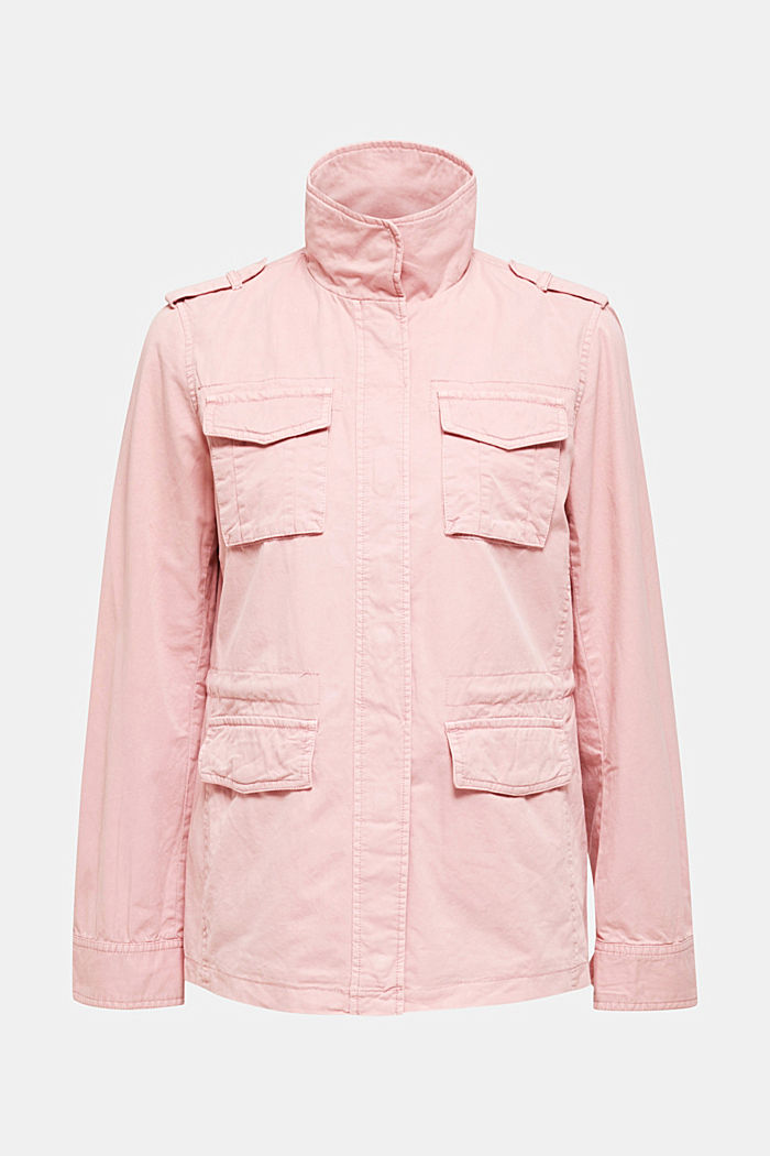 Utility-Jacke aus 100% Baumwolle, DARK OLD PINK, detail image number 7
