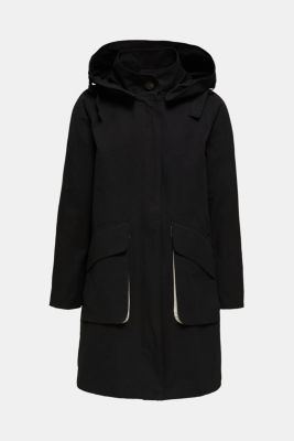 Parka with NEON lining, BLACK, detail
